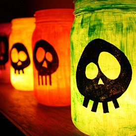 Colorful Skull Luminaries