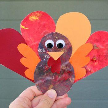 Leaf Art Turkey Magnets