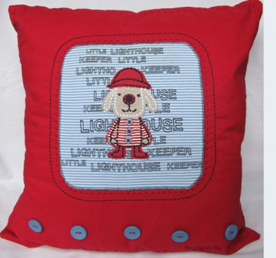 Upcycled T-shirt Cushion
