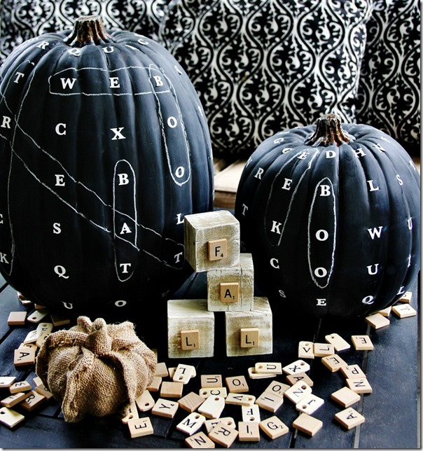 Word Find Chalkboard Pumpkin