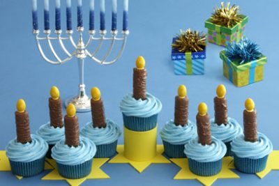 Eight Nights of Light Cupcakes