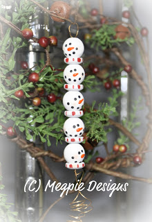Beaded Snowmen Ornament
