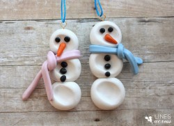 Clay Thumbprint Snowmen Ornaments