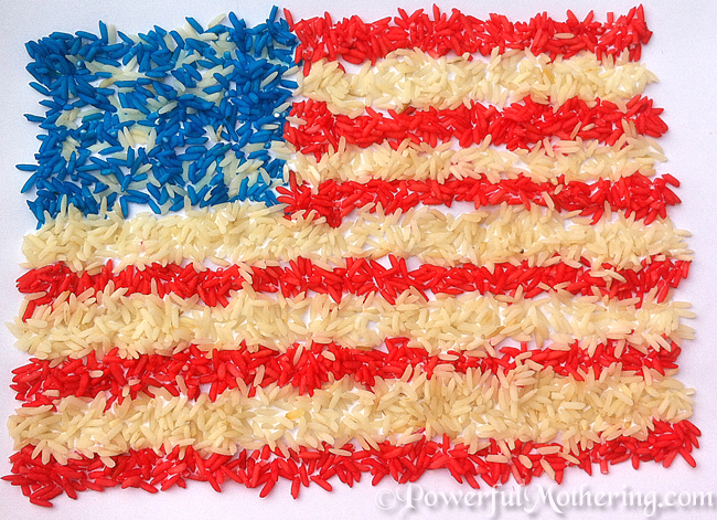 Colored Rice American Flag