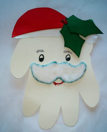 Handprint Santa Claus