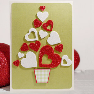 i heart christmas card