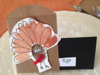 Thumbprint Turkey Place Cards