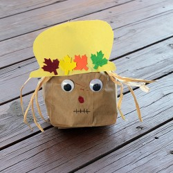 Paper Bag Scarecrow