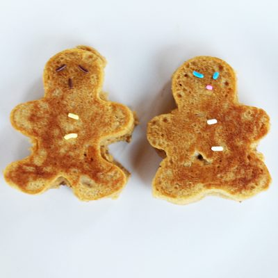 Gingerbread Man Pancakes