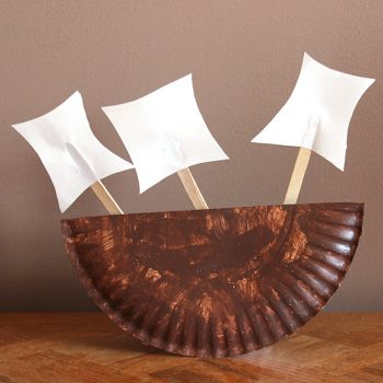 Thanksgiving Paper Plate Boat