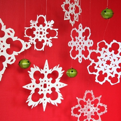 Mickey Paper Snowflakes Fun Family Crafts