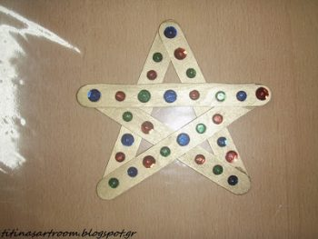 Wooden Stick Star Ornament