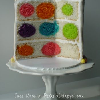 Polka Dot Surprise Cake