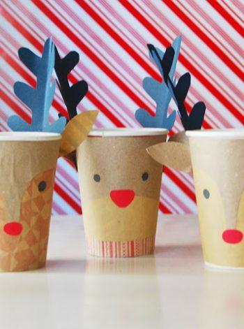 Reindeer Christmas Cups