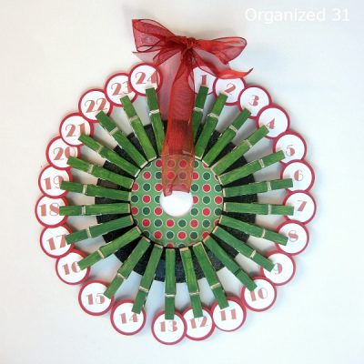 Upcycled 45 Record Advent Calendar Fun Family Crafts