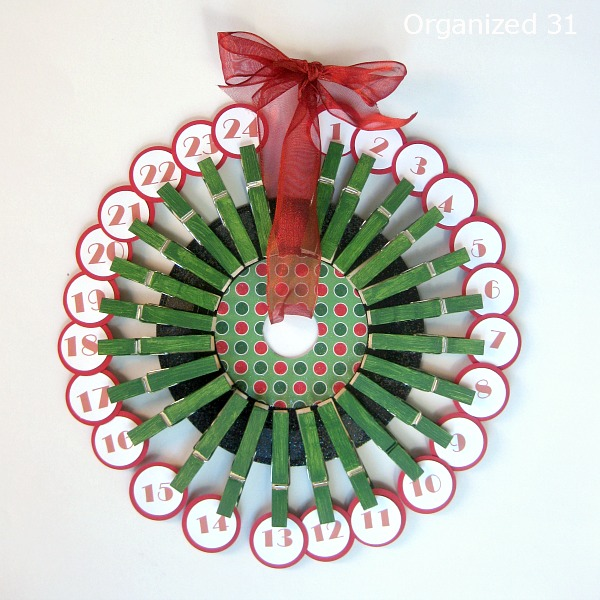 Upcycled 45 Record Advent Calendar