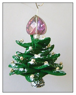 Snowfall Clay Tree Ornament