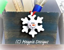 Snowman Snowflake Ornament