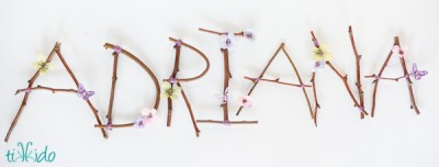 Rustic Twig Letters
