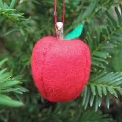 Felt Apple Ornament