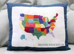Embroidered United States of America