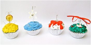 Faux Cupcake Ornaments