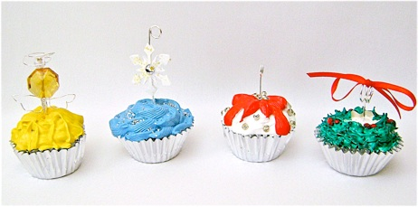 Faux Cupcake Ornaments