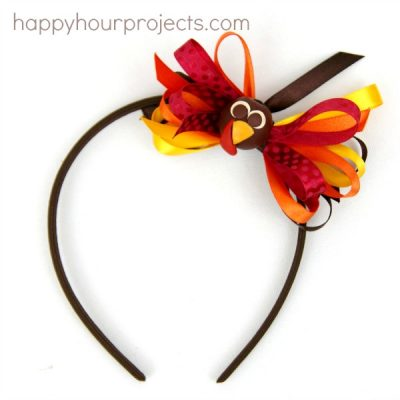 Turkey Bow Headband