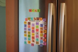 Hieroglyphic Alphabet Magnets