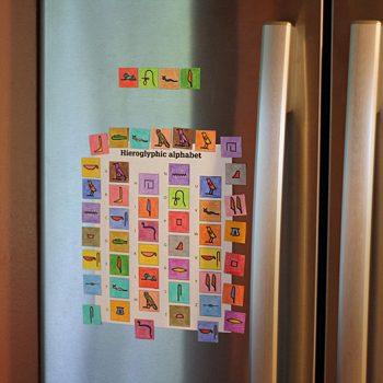 Hieroglyphic Alphabet Magnets
