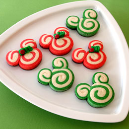 Mickey and Minnie Peppermint Swirl Cookies