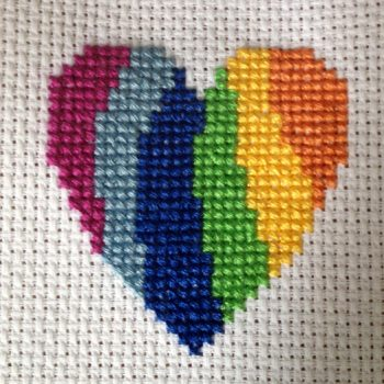 Modern Heart Cross Stitch