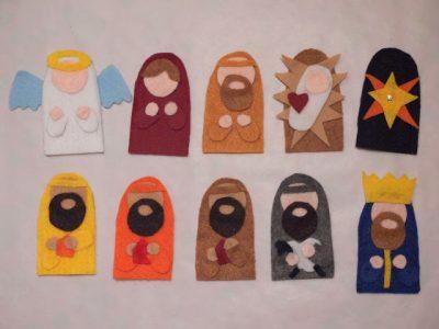 Felt Nativity Finger Puppets