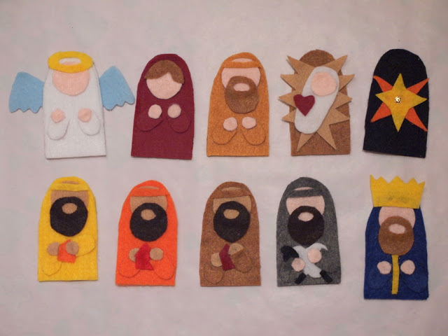 felt nativity finger puppets fun family crafts