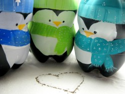 Plastic Bottle Penguins