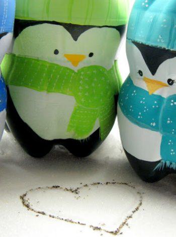 Plastic Bottle Penguins