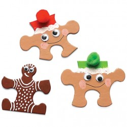 Puzzle Piece Gingerbread Men