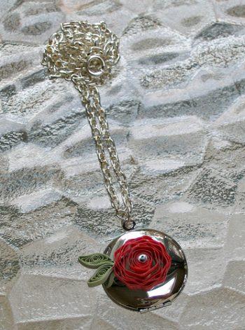 Quilled Flower Locket