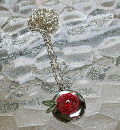 Quilled Flower Locket