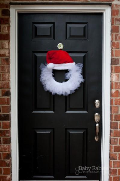 Tulle Santa Wreath