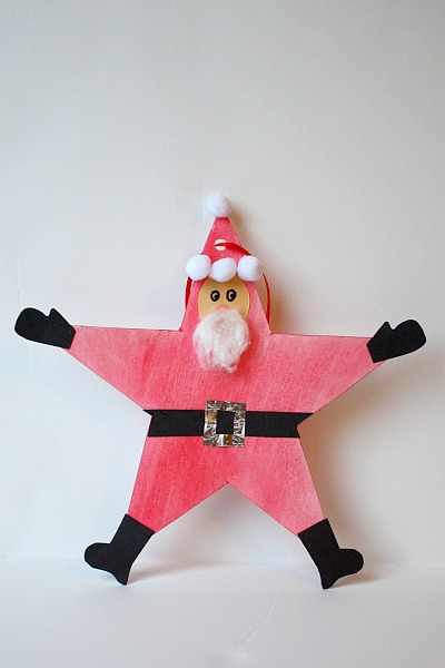 Santa star christmas ornament fun family crafts for Santa crafts for kindergarten