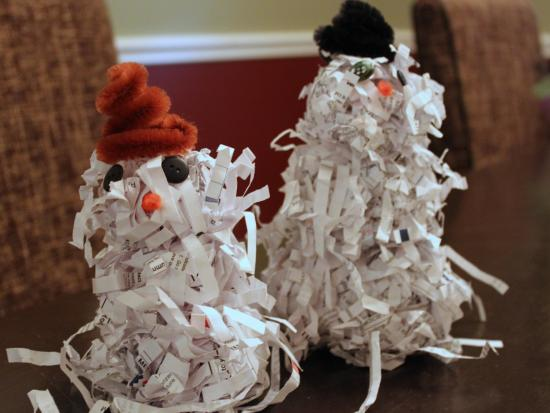 Shredded Paper Snowman Fun Family Crafts