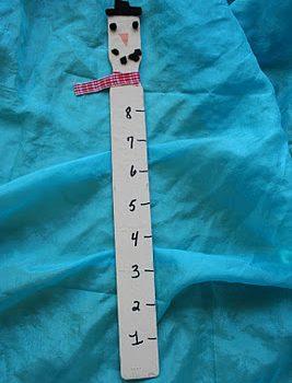 Paint Stick Snowman Snow Ruler