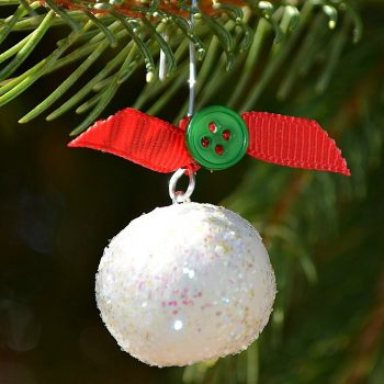 Sculpey Snowball Ornaments