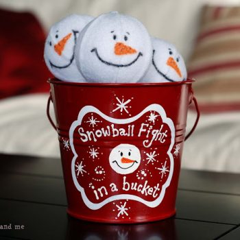 Snowball Fight in a Bucket