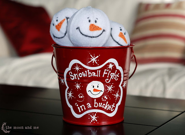 Snowball Fight In A Bucket Fun Family Crafts