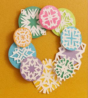 Snowflake Wreath Fun Family Crafts