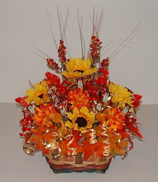19 Edible Turkey Crafts Thanksgiving Crafts: Thanksgiving Candy Bouquet