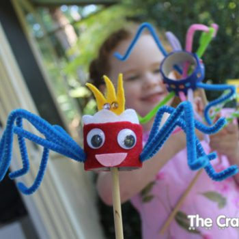Spider Stick Puppet