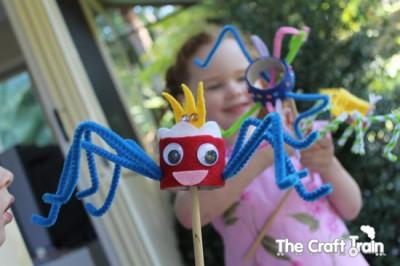 Spider Stick Puppet